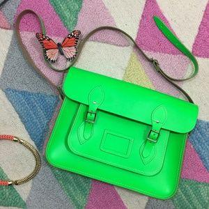 Neon Green Satchel - Cambridge Satchel Company